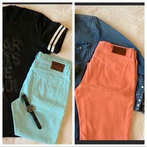 DL1961 ✌🏼BUNDLE Jeans Blue and Coral NWOT